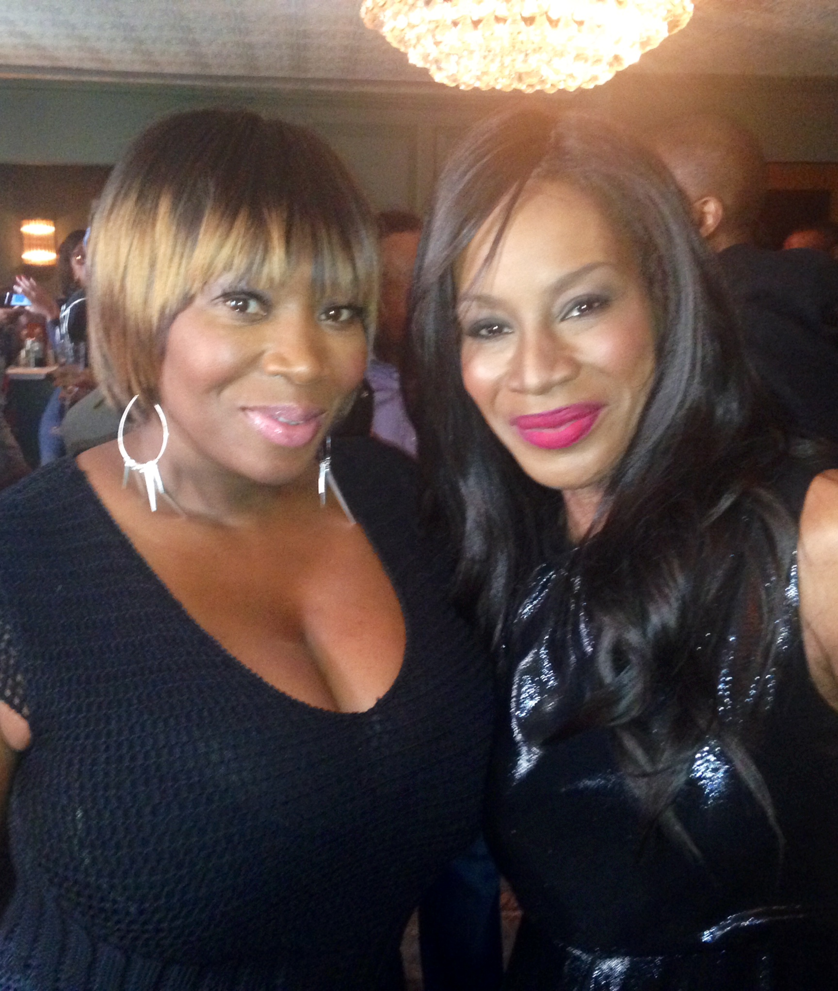 """Bevy Smith and Amma Asante at """"Belle"""" screening (left to right)"""