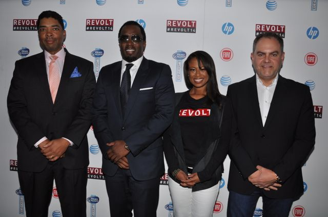 Keith Clinkscales, Diddy, Val Boreland, Andy Schuon (left to right)/Photo Credit: Stephen Knight
