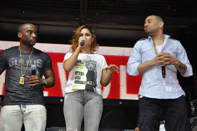 The Breakfast Club's Charlamagne Tha God, Angela Yee, DJ Envy (left to right)/Photo Credit: Stephen Knight