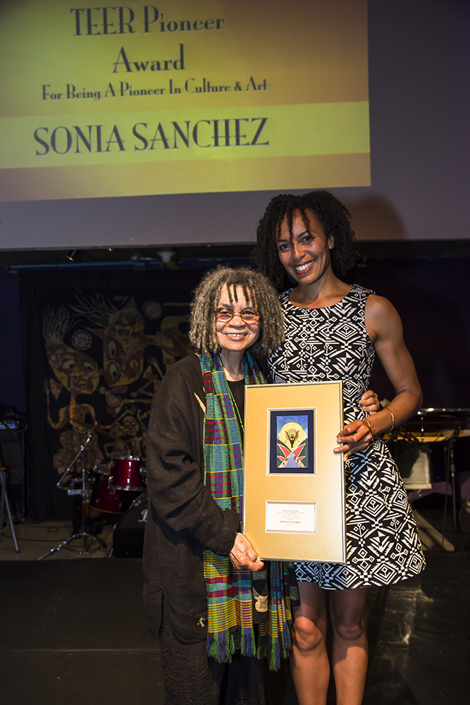 Sonia Sanchez and guest/Courtesy of National Black Theatre