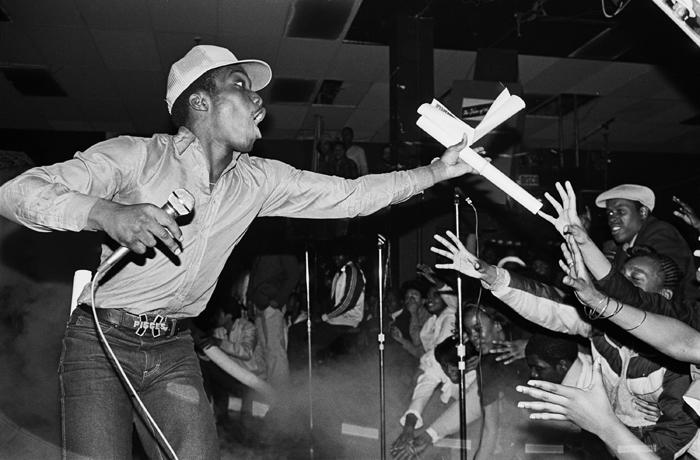 Almighty KG of the Cold Crush Brothers at Harlem World 1981/Photography by Joe Conzo