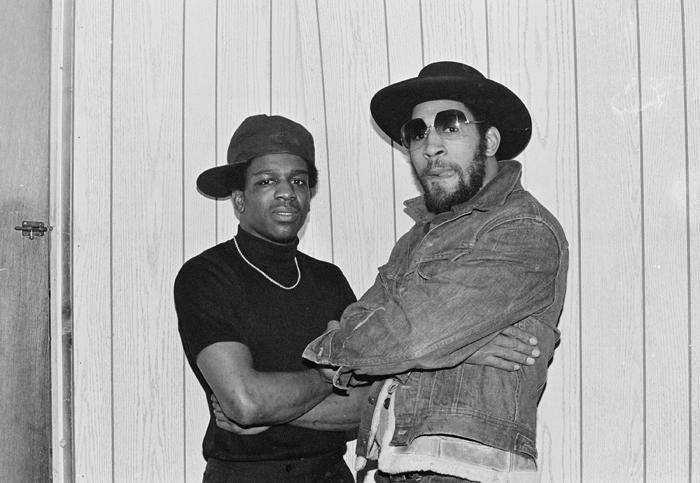Tony Tone and Kool Herc Backstage at T-Connection 1979/ Photography by Joe Conzo